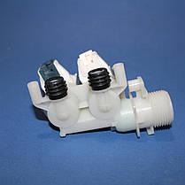 Клапан для стиральных машин впускной 2/90 Indesit, Ariston под фишку , фото 3