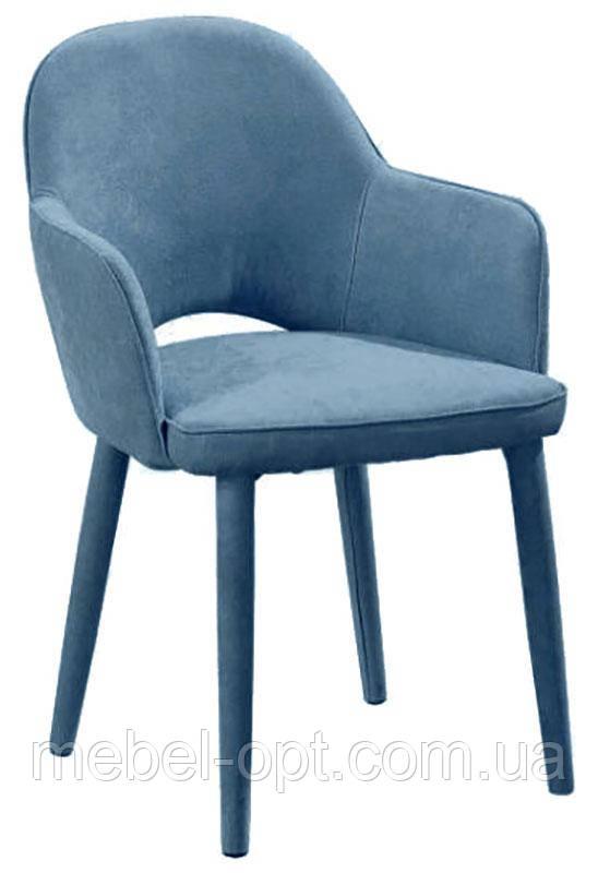 Кресло М-23 на металлическом каркасе, ткань цвет аквамарин