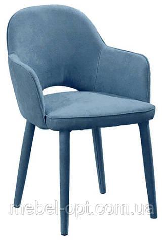 Кресло М-23 на металлическом каркасе, ткань цвет аквамарин, фото 2