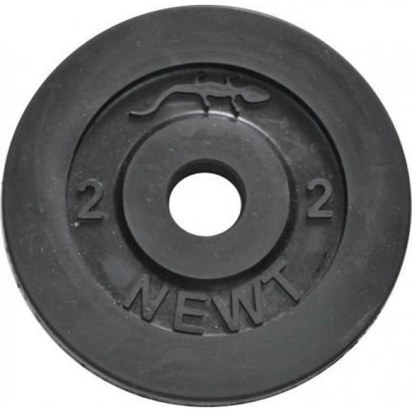 Диск стальной обрезиненный  Newt Home 2 кг, диаметр - 30 мм