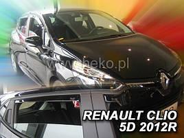 Дефлекторы окон (ветровики)  RENAULT CLIO - IV 5D 2012R.→(HEKO)