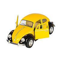 Оригинальная(металлическая) моделька Volkswagen Classical Beetle 1967, машинка для юного коллекционера