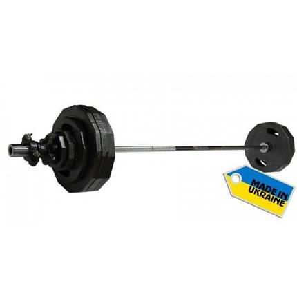 Штанга наборная олимпийская Newt  120 кг. Гриф 2,2 м., фото 2
