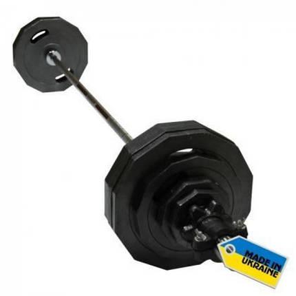 Штанга наборная олимпийская Newt  73 кг. Гриф 1,8 м., фото 2