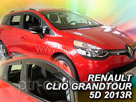 Дефлекторы окон (ветровики)  RENAULT CLIO - GRANDTOUR/COMBI IV 5D 2012R.→(HEKO)