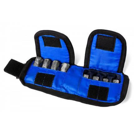 Утяжелители для рук и ног 2 кг пара (2*1 кг) вес регулируется, фото 2