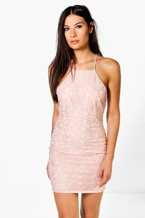 Новое кружевное платье с красивой спинкой Boohoo