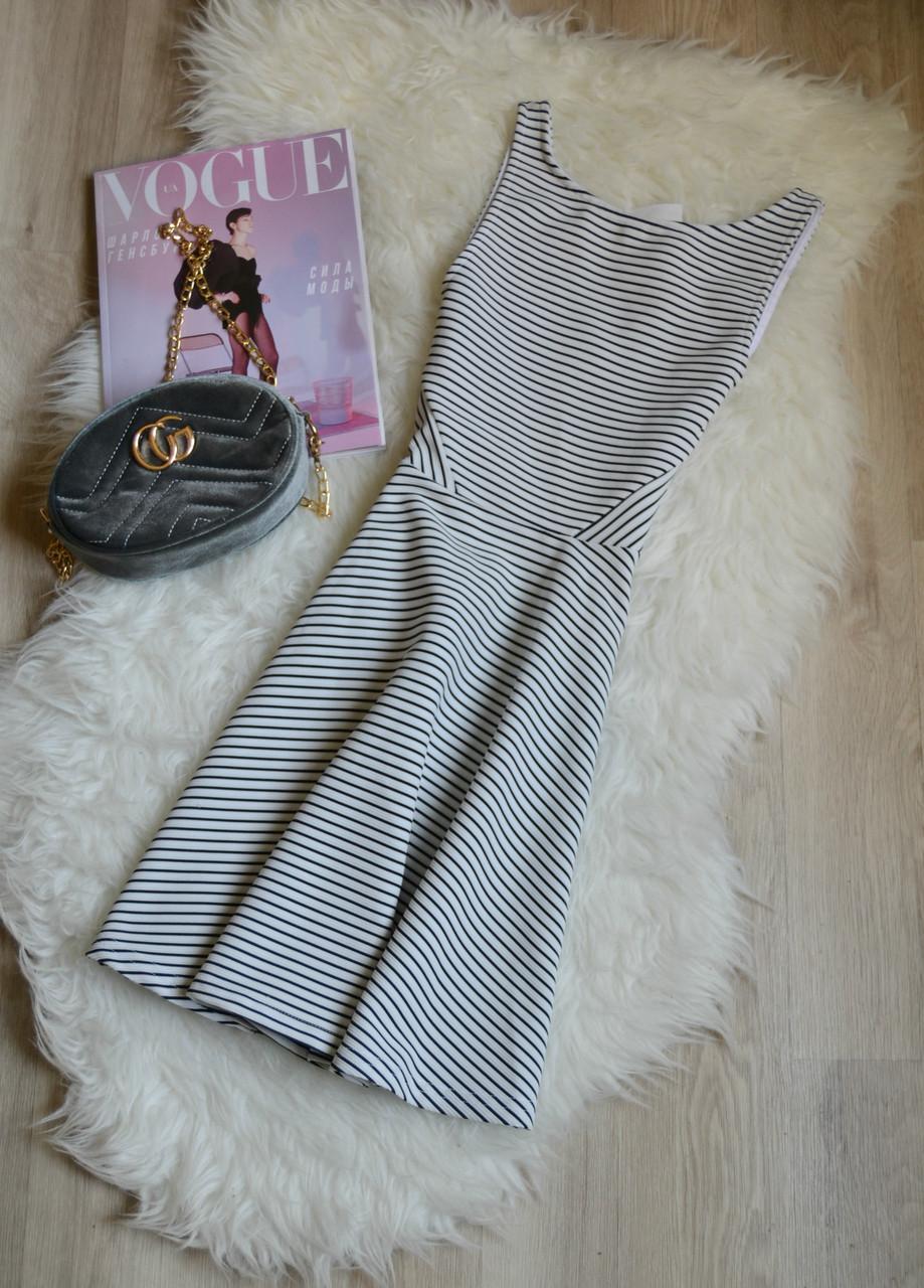 Новое короткое платье в полоску H&M