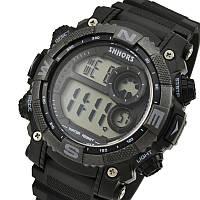 Часы SHHORS SH-805. Удобные спортивные часы. Часы для занятий спортом. Секундомер + будильник + подсветка.