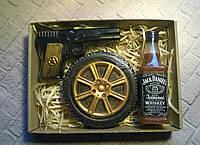 Мыльный набор Виски, колесо и пистолет