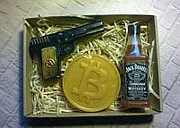 Мыльный набор Виски, биткоин и пистолет
