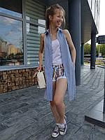 Женское платье рубашка без рукавов