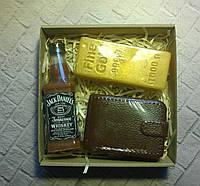 Мыльный набор Виски, портмоне и слиток