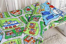 Детский комплект в кроватку Robocar Poli