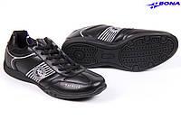 Кроссовки мужские Bona Бона черные, фото 1