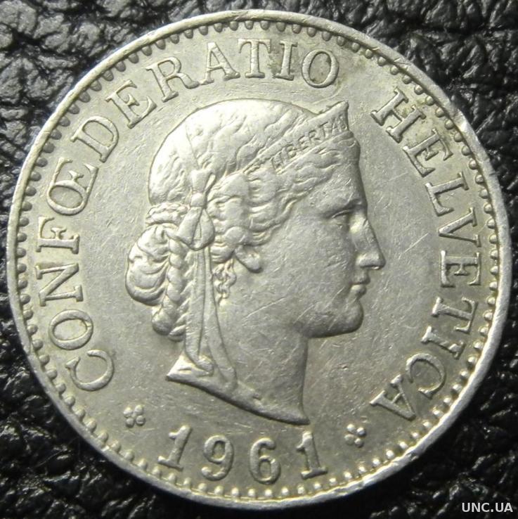 Швейцария 10 раппенов 1961г.