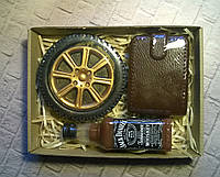Мыльный набор Виски, колесо и портмоне