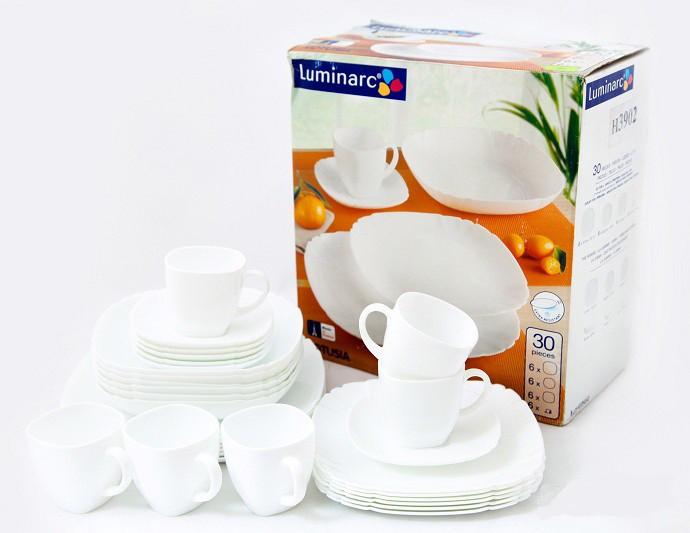 Сервиз столовый Luminarc Lotusia white H3902 (30 предметов)