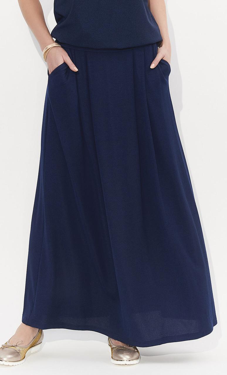 Женская юбка Latia Zaps темно-синего цвета, коллекция весна-лето