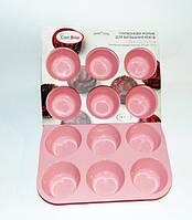 Силиконовая форма для 12-ти кексов Con Brio CB-672 pink 29,4х22,3х3 см
