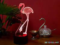 """Детский ночник - светильник """"Фламинго"""" 3DTOYSLAMP, фото 1"""