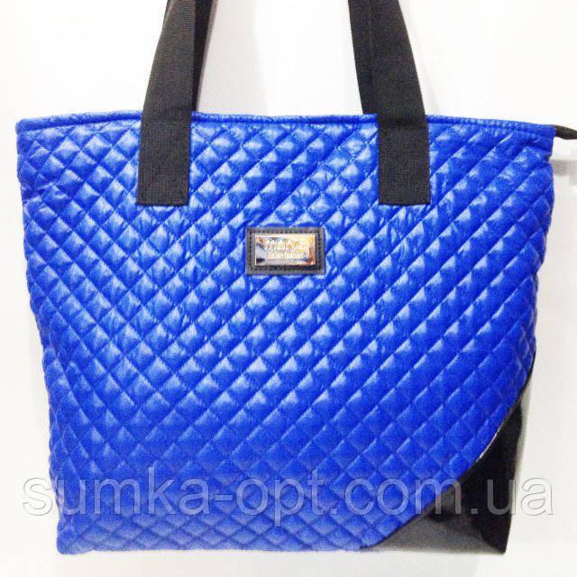 Стеганные сумки оптом (синий)34*44