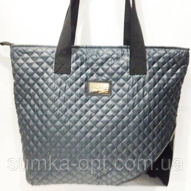 Стеганные сумки оптом (серый)34*44
