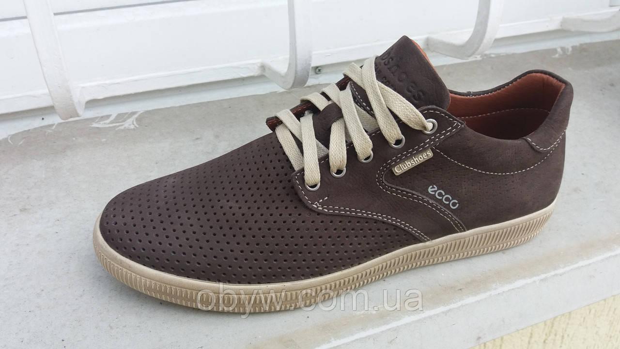 Кожаная летняя мужская обувь ecco 1cd403e079fa5