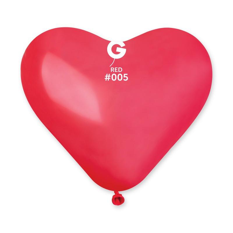 """Воздушные шары сердце 10"""" (25 см) красное пастель"""