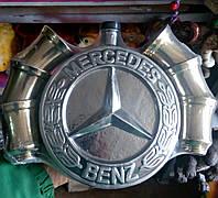 Штоф Эмблема Мерседес + 6 стопок, бутылка в виде значка мерседеса + 6 стопок.