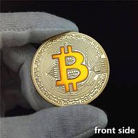 Позолоченная сувенирная монета Bitcoin Flame 2013
