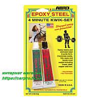 Клей эпоксидный высокопрочный ABRO Epoxy Steel ES-507, фото 1