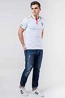 Мужская белая рубашка поло