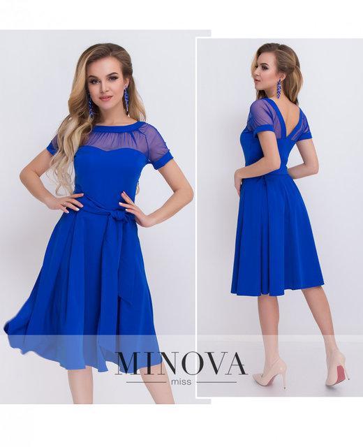 ebacb05ba2c Милое приталенное платье расклешенной юбкой и V-образным вырезом на спинке  Размеры 42