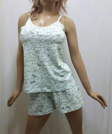 Женскую пижаму купить в интернет-магазине, пижама шорты и майка, размеры 44,46,48, фото 2