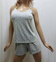 Женскую пижаму купить в интернет-магазине, пижама шорты и майка, размеры 44,46,48, фото 3