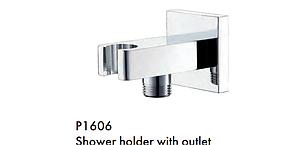 """Кронштейн для лейки с подводом воды для встроенных смесителей 1/2"""" квадрат TOPAZ"""