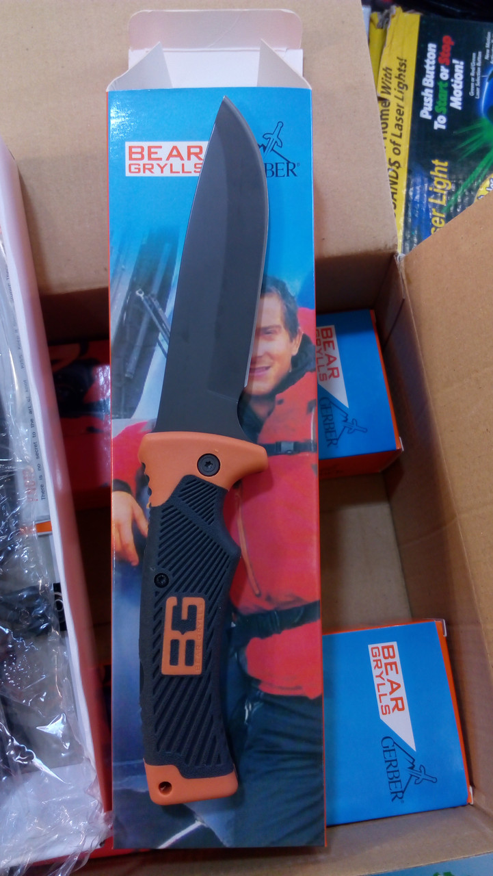 Туристический (не складной) нож Gerber Bear Grylls Folding Sheath Knif с чехлом -  копия!