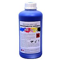 Экосольвентные чернила WE-360, Cyan, 1л. (EcoSolvent for Epson DX5/7)