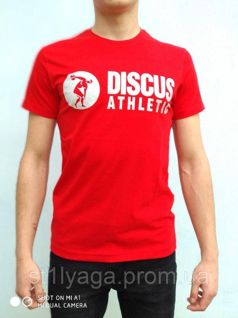 Мужская футболка с принтом красный