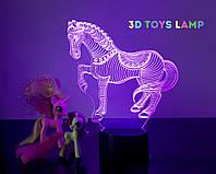 """Детский ночник - светильник """" Лошадка"""" 3DTOYSLAMP, фото 1"""