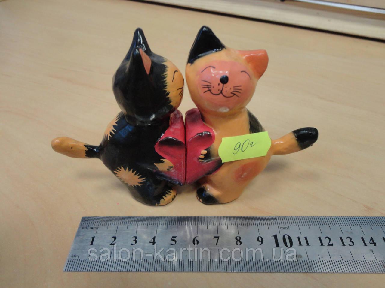 """Деревянная статуэтка """"Влюбленные коты"""""""