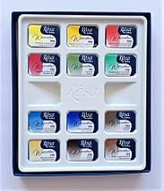 """Набор акварельных красок """"Классика"""", ROSA Gallery, 12 цв., кювета, картон, фото 3"""