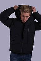 Куртка мужская зимняя черная Avecs AV-70182 Размеры 48/M