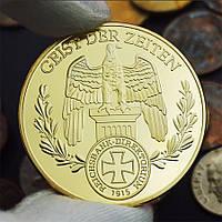 Позолоченная сувенирная монета Deutsche Bank