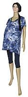 Туника летняя для беременных 1076 Darina Jeans с карманами, хлопок, р.р.48-62