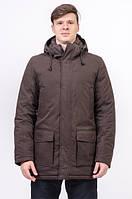 Куртка чоловіча зимова коричнева Avecs AV-973С Розміри 46/48 S/M