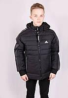 Куртка мужская в стиле Adidas 772# Black с серыми полосами Адидас Размеры L (48) XXL (52)