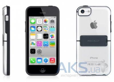 Чехол Macally Hardshell case with stand - Apple iPhone 5C Black (KSTANDP6-B) - интернет-магазин BUMEKS.com.ua в Киеве