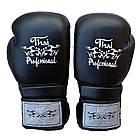 Боксерские перчатки Thai Professional BG3 Черные, фото 2